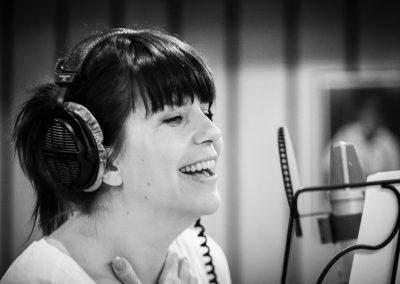"""Alexandra Scholten beim Einsingen von """"Like The Clouds"""""""